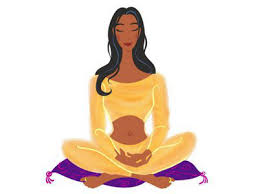 Girl meditating